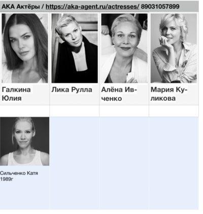 Актрисы - Шахматки   Актеры КАлашниковой